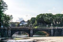 Pont de Seimonish et palais de Tokyo Photos libres de droits