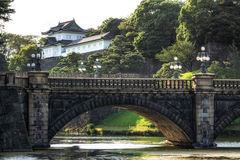 Pont de Seimonish et palais de Tokyo Photographie stock