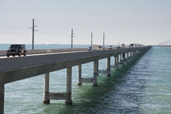 Pont de sept milles en Floride Photos stock