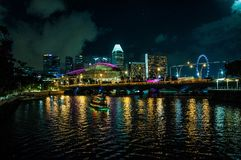 Pont de Singapour Photo libre de droits