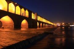 pont de Sio-Se-Pol dans esfahan, Iran, égalisant Images stock