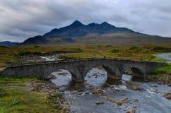 Pont de Sligachan - île de skye Photographie stock