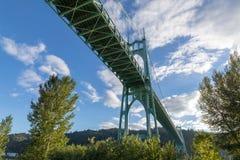 Pont de St Johns à Portland Orégon images stock