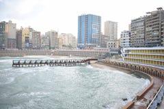 Pont de Stanly, l'Alexandrie, Egypte photographie stock libre de droits