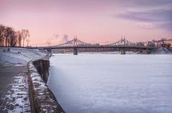 Pont de Starovolzhsky Photo libre de droits