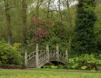 Pont de style japonais dans le jardin anglais images libres de droits