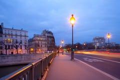 Pont de Sully bridge over Seine River. Ile Saint Louis, Paris, France Stock Image