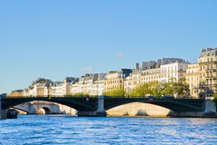 Pont de Sully, Paris, France. Seine river  and Pont de Sully, Paris, France Royalty Free Stock Photos