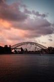 Pont de Sydney Opera House And Harbour Image libre de droits