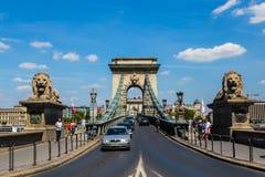 Pont de Szechenyi à Budapest Images stock