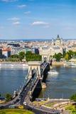 Pont de Szechenyi à Budapest Photos stock