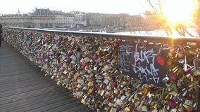 Pont De Sztuka Paris Fotografia Royalty Free