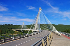 Pont de Terenez, Brittany Stock Photo
