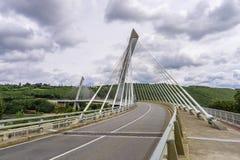 Pont de Terenez suspension bridge Stock Photo