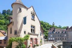 Pont De Terrade, Aubusson, Creuse, Limousin, Francja, Czerwiec 2015 Obrazy Stock