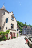 Pont de Terrade and the Clock Tower, Aubusson, Creuse, France , June 2015 Royalty Free Stock Photos