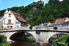 Pont de Terrade, Limousin, Francia Fotografia Stock Libera da Diritti