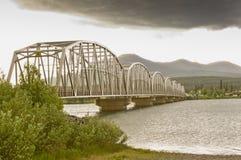 Pont de Teslin Photos stock