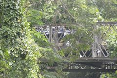Pont de Tiguman chez Tiguman barangay, ville de Digos, Davao del Sur, Philippines photographie stock