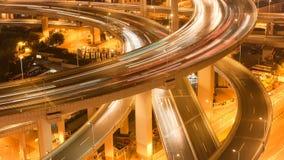 Pont de Timelapse Changhaï Nanpu banque de vidéos