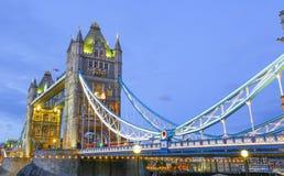 Pont de tour dans la ville de Londres Angleterre de Londres Images libres de droits