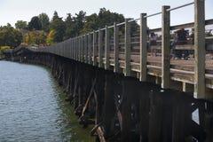Pont de traînée galopant d'oie, Victoria Photographie stock libre de droits