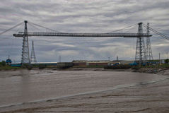 Pont de transporteur de Newport Image libre de droits