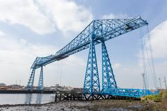 Pont de transporteur de Middlesbrough images stock
