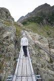 Pont de Trift, Suisse Images stock