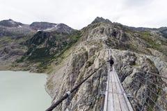 Pont de Trift, Suisse Photo stock