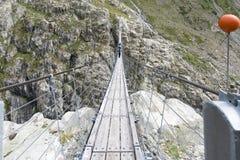 Pont de Trift, Suisse Image libre de droits
