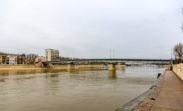 Pont de Trinquetaille, μια γέφυρα σε Arles - τη Γαλλία Στοκ φωτογραφίες με δικαίωμα ελεύθερης χρήσης