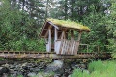 Pont de Troll à Pétersbourg Alaska Photo stock
