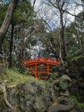 Pont de Tsutenkyo dans le jardin de Koishikawa Korakuen photos libres de droits
