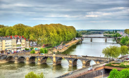 Pont de Verdun, μια γέφυρα σε ολόκληρο το Μαίην στη Angers, Γαλλία Στοκ φωτογραφία με δικαίωμα ελεύθερης χρήσης