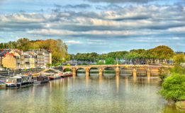 Pont de Verdun, a bridge across the Maine in Angers, France Royalty Free Stock Image