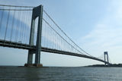 Pont de Verrazano à New York Photographie stock