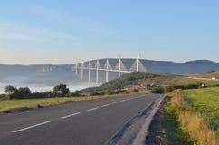 Pont de viaduc de Millau Photographie stock