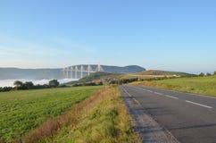 Pont de viaduc de Millau Photographie stock libre de droits