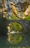 Pont de Villacantal, Vero River image libre de droits