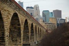 Pont de voûte à Minneapolis dans Minnessota Images libres de droits