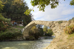 Pont de voûte de la Reine Tamara Adjara, la Géorgie photographie stock