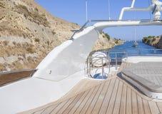 Pont de vol du ` s de yacht Photo stock