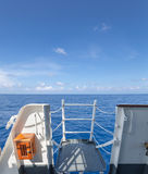 Pont de vol sur un bateau Photo libre de droits
