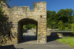 Pont de Warkworth, le Northumberland photographie stock