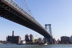 Pont de Williamsburg dans Manahattan, New York photographie stock libre de droits