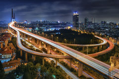 Pont de Yangpu, Changhaï photos stock