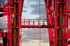Pont de Zhivopisny passerelle Câble-restée Plan rapproché moscou Image stock