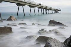 Pont del petroli,巴达洛纳,西班牙 免版税库存照片