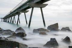 Pont del petroli, Badalona, Ισπανία Στοκ Φωτογραφίες